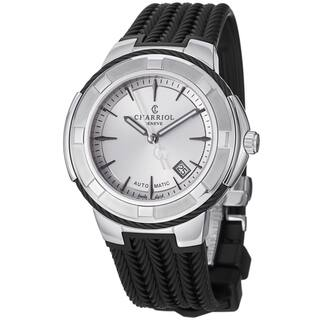 Charriol Men's CE443AB.173.003 'Celtica' Silver Dial Black Rubber Strap Watch|https://ak1.ostkcdn.com/images/products/8965418/Charriol-Mens-CE443AB.173.003-Celtica-Silver-Dial-Black-Rubber-Strap-Watch-P16175046.jpg?impolicy=medium