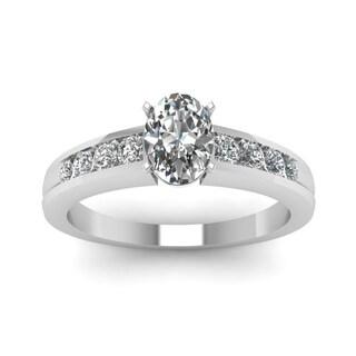 Fascinating Diamonds 14k White Gold 3/5CTtw Oval Diamond Ring (G, VS2, GIA)