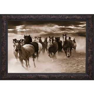 Running Horses' by Monte Nagler Framed Art Print