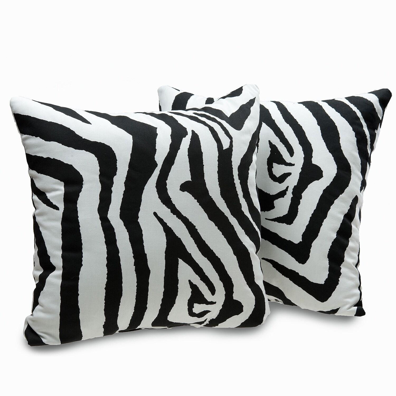 Victor Mill Zebra Print Decorative Throw Pillows (Set of ...