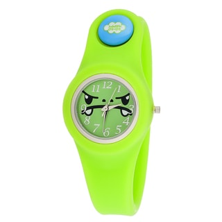 So So Happy Kids' Tribe Green Snap Button Character Watch