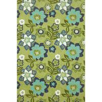 Scattered Flowers Outdoor Area Rug - 5' x 7'6