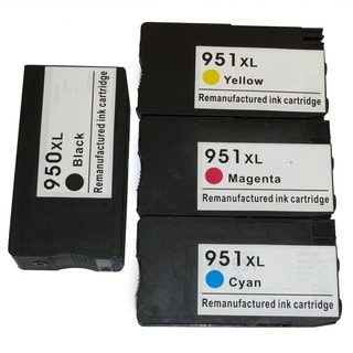 HP 950XL/951XL Black/ Color Ink Cartridge Replacement for CN045AN, CN046AN, CN047AN, CN048AN (#140)