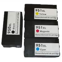 HP 950XL/951XL Black/Color Ink Cartridge Replacement for CN045AN, CN046AN, CN047AN, CN048AN (#140)