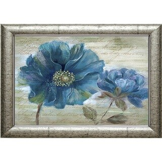 Blue Poppy Poem I' by Nan Framed Art Print