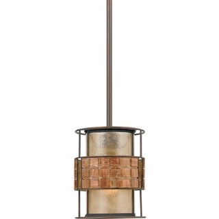 Quoizel Laguna 1-light Renaissance Copper Rod Hung Mini Pendant