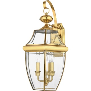 Newbury 3-light Polished Brass Large Wall Lantern