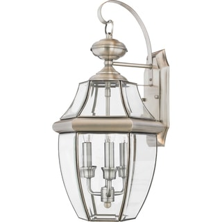 Newbury 3-light Pewter Large Wall Lantern