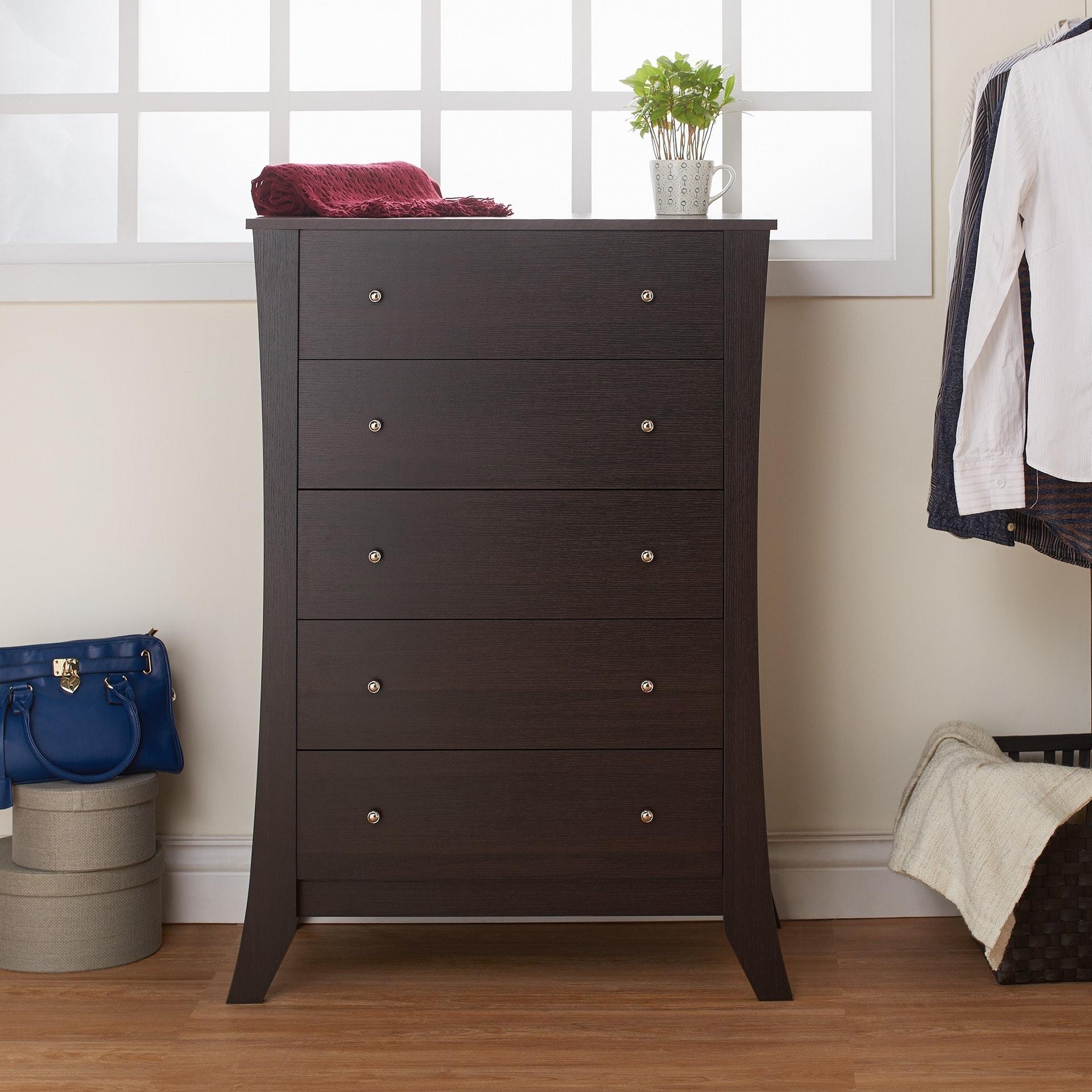 Furniture Of America Hamilton Espresso 5 Drawer Chest
