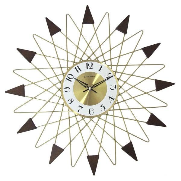 Hans Andersen Home Gold Banker Wall Clock
