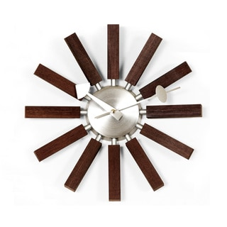 Hans Andersen Home Walnut Wooden Spokes Clock