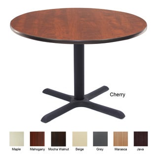 30-inch Cain Round Breakroom Table (Option: Cherry - Cherry Finish)