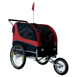 Multi-use Jogging Pet Stroller/ Bike Trailer with Bike Hitch