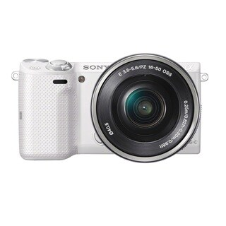 Sony Alpha NEX-5T Mirrorless White Digital Camera with 16-50mm Lens