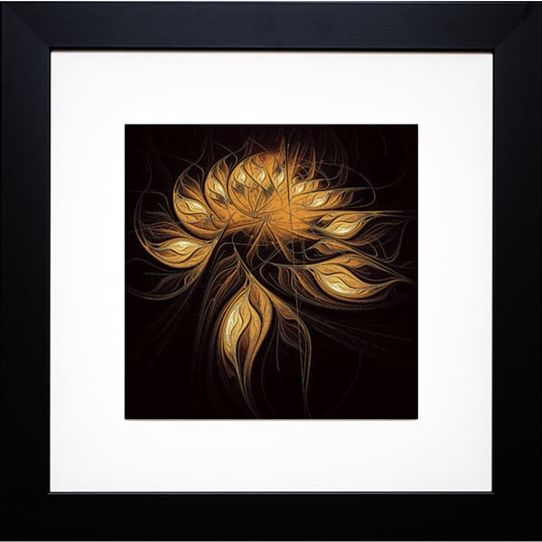 Heart of Gold' by Amanda Moore Framed Art Print
