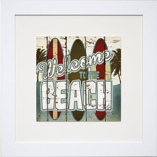 Welcome to the Beach' by Katrina Craven Framed Art Print