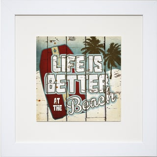 Life is Better at the Beach' by Katrina Craven Framed Art Print