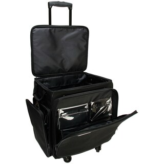 GOGO 300 Arts and Crafts Black Spinner Upright Tote Bag