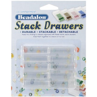 """Stack Drawers 1.75""""X1""""X.5"""" 10/Pkg-Clear"""