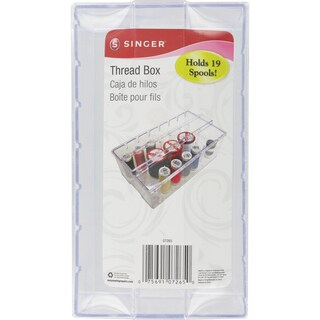 Clear Plastic Thread Box