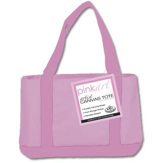 Pink Art Artist Canvas Tote
