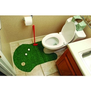 Bathroom Putting Green Golf Game