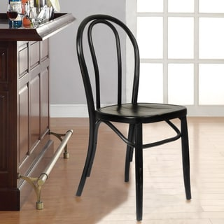 Adeco Elm Wood Antique Bistro Dining Chair Set