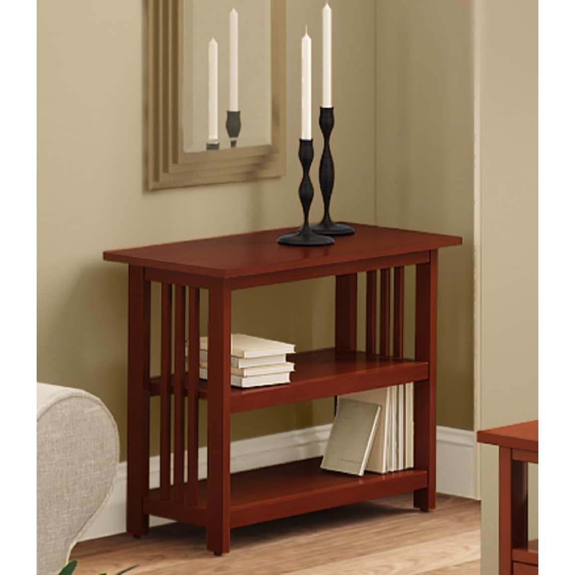 Copper Grove Boutwell Classic Mission Style Under Window Bookshelf
