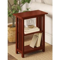 Pine Canopy Redwood Classic Mission Two-shelf End Table