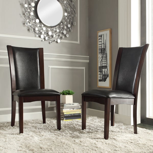 Shop TRIBECCA HOME Sonata Black-Brown Faux Leather Dining