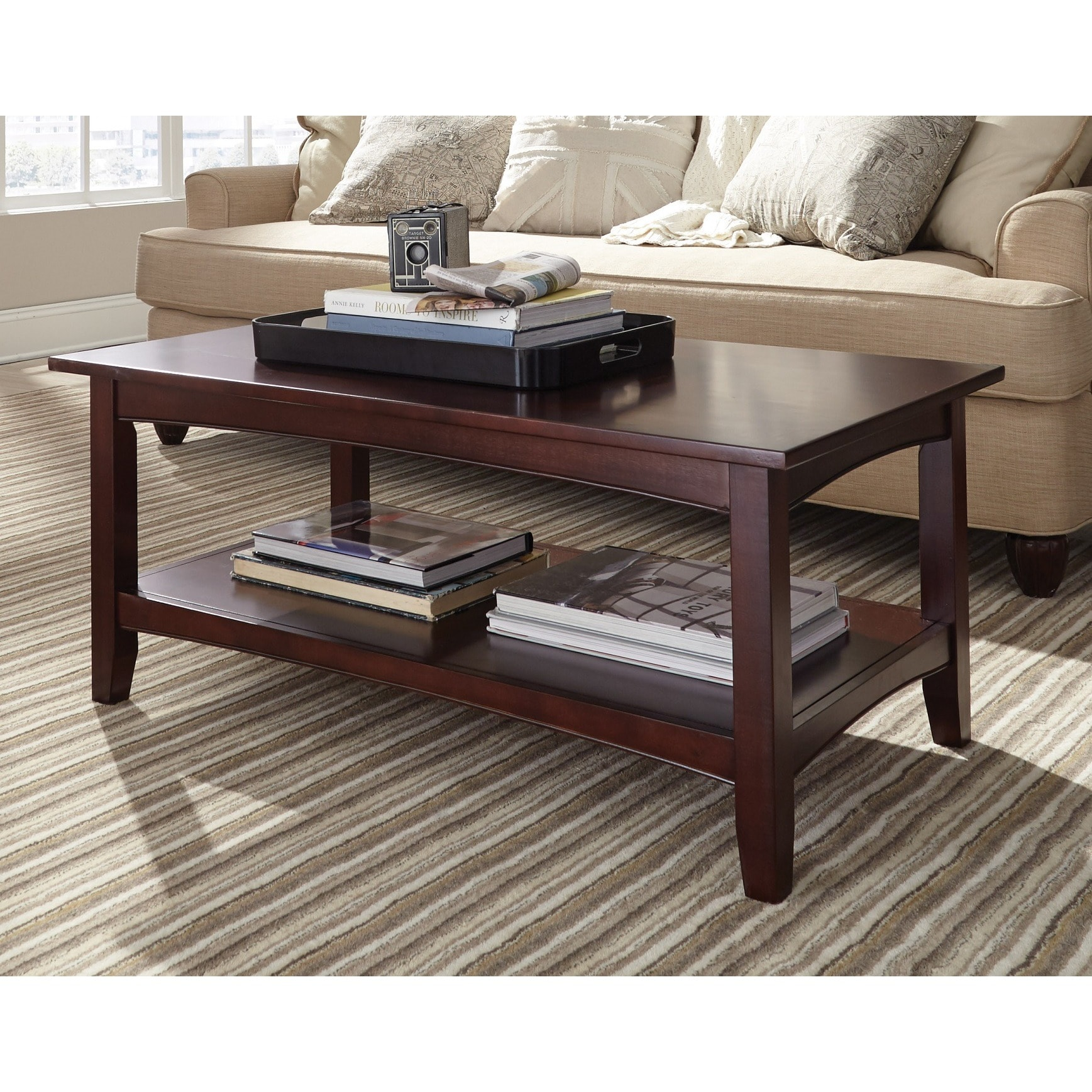Copper And Wood Coffee Table: Shop Copper Grove Angelina 42-inch Wood Coffee Table With