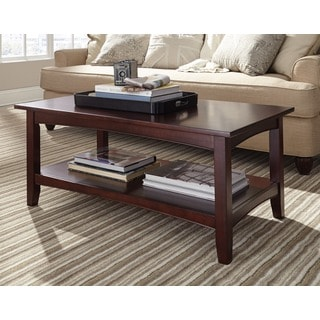 Fair Haven 42-inch Wood Coffee Table with Shelf