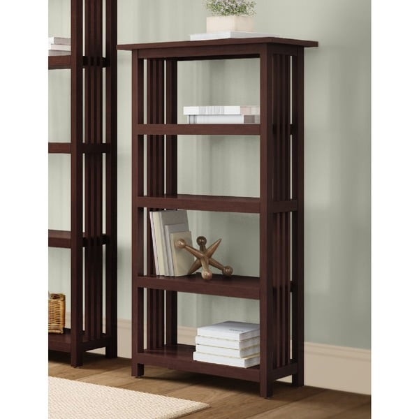 Copper Grove Boutwell Classic Mission Wood 48-inch Bookcase with 4 Shelves. Opens flyout.