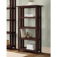 Copper Grove Boutwell Classic Mission Wood 48-inch Bookcase with 4 Shelves