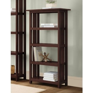Classic Mission Wood 48-inch Bookcase with 4 Shelves