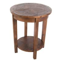 Pine Canopy Redwood Reclaimed Wood End Table with Shelf