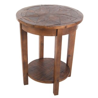 Alaterre Heritage Reclaimed Wood End Table with Shelf