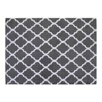 Chesapeake Merchandising Cotton Grey/White Moroccan Area Rug - 5' x 7'