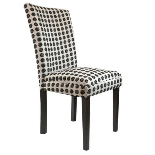 Arbonni Modern Parson Cream Floral Chairs (Set of 2)