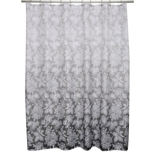 Ombre flower shower curtain 16176858 overstock com shopping