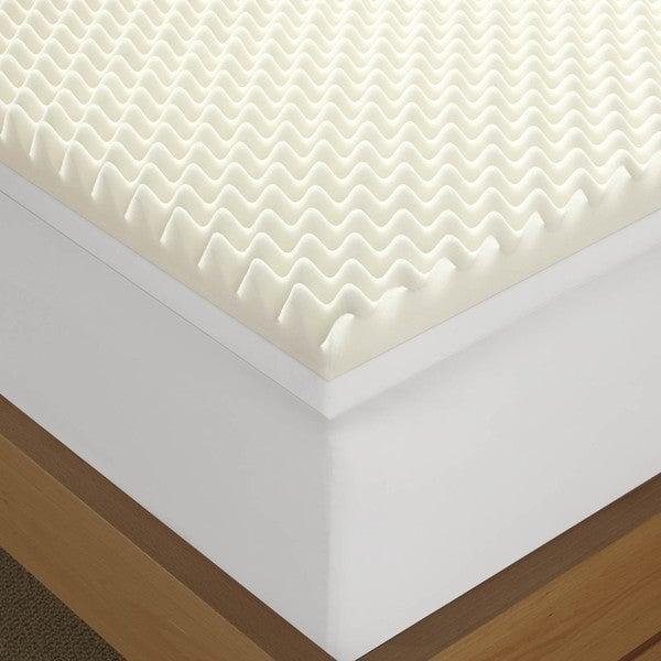 Serta Renewal 4 inch Dual layer Memory Foam Mattress Topper Free