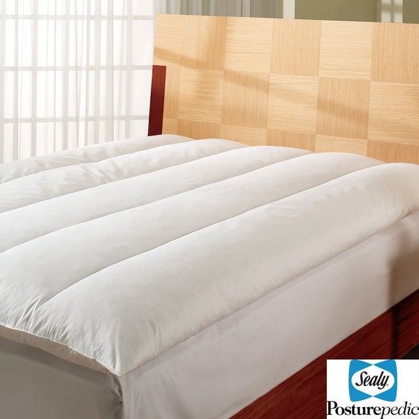 Sealy Posturepedic Soft Down Alternative Fiber Bed Free