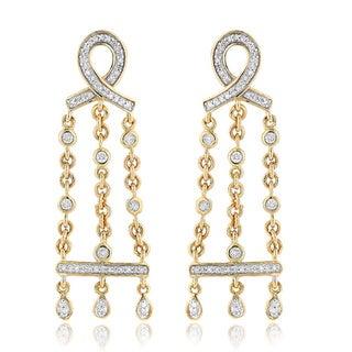 Luxurman 14k Gold 3/8ct TDW Diamond Chandelier Earrings (H-I, SI1-SI2)