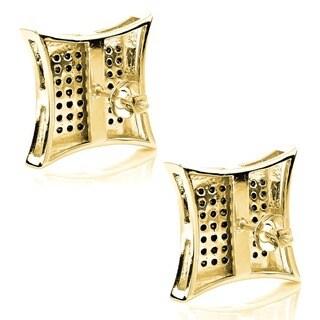 Luxurman 14k Gold 1 3/5ct TDW Black Diamond Earrings