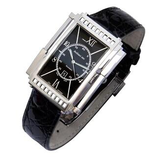 Xezo Men's 'Architect' Art-deco Style Swiss Automatic Watch