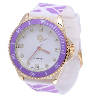 The Macbeth Collection Women's MBW023G-PU Pop Color Fashion Nylon Band Watch