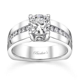 Barkev's Designer 14k White Gold 1 1/5ct TDW Diamond Engagement Ring