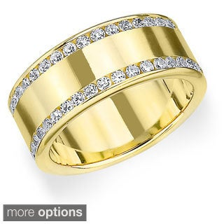 Amore 14k Gold 1ct TDW Diamond Anniversary Eternity Band