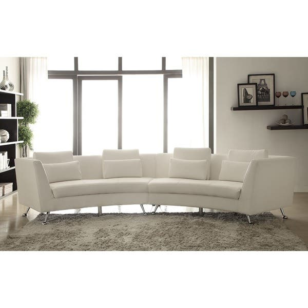 Awe Inspiring Lily White Curved Sectional Sofa Caraccident5 Cool Chair Designs And Ideas Caraccident5Info