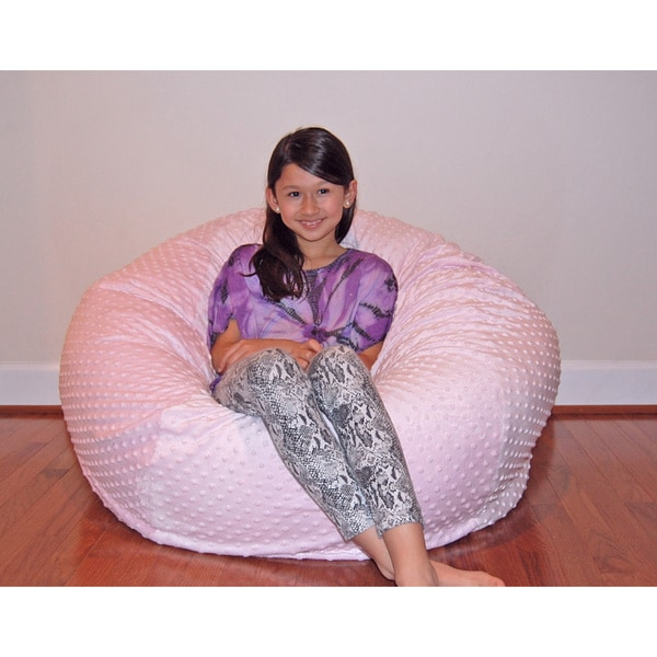Cuddle Bubble 36 Inch Minky Soft Bean Bag Chair